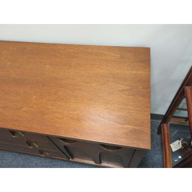 Brown 1960s Mid-Century Broyhill Brasilia Lowboy Credenza For Sale - Image 8 of 12