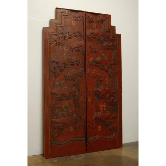 Chinese Carved Temple Courtyard Door Panels - A Pair - Image 3 of 10