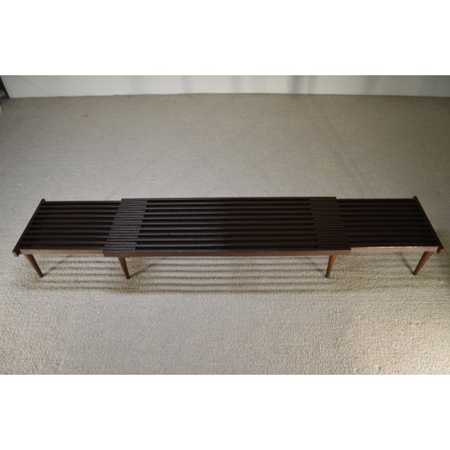 Brown Saltman Expandable Sliding Slat Bench - Image 3 of 5