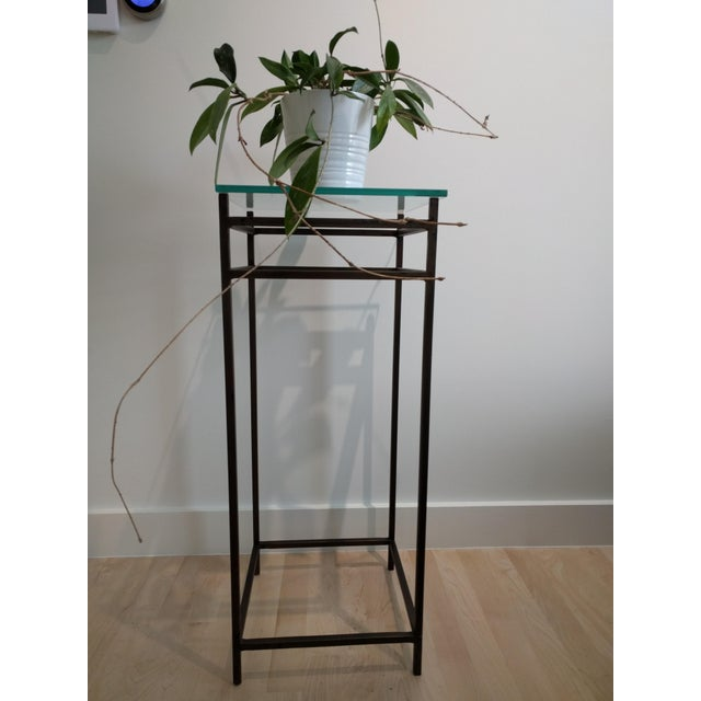 1990s Modern Contemporary Metal Plant Stands - a Pair For Sale - Image 5 of 10