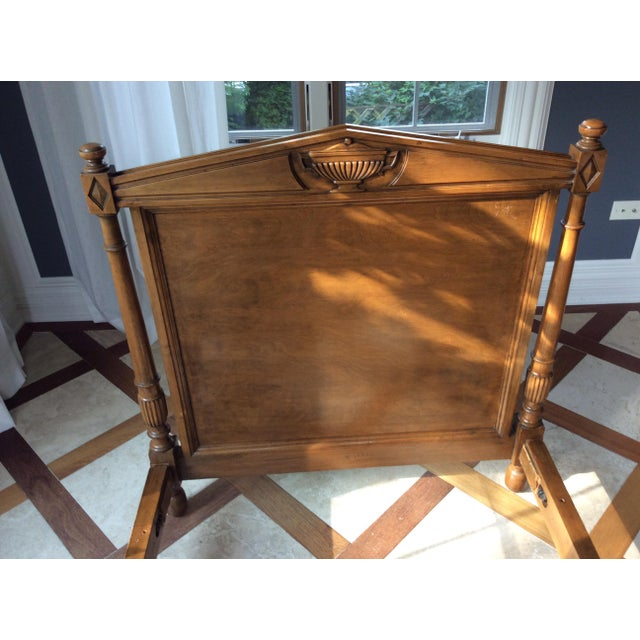 19th Century French Empire Walnut Bedframe For Sale - Image 4 of 13