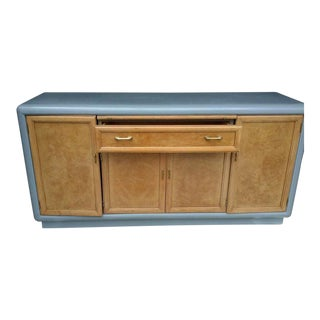 1970s Lacquered Blue Mid-Century Credenza For Sale