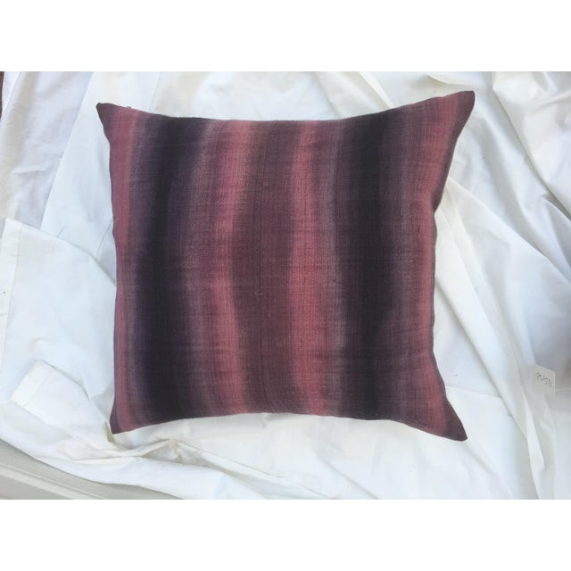 Tie-Dye Woven Thai Linen Pillows - Pair For Sale - Image 5 of 6