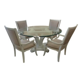 Transitional Thomasville Furniture Dining Set - 5 Pieces For Sale
