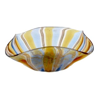 Vintage Murano Art Glass Bowl For Sale