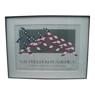 Gay Freedom in America Poster, Circa 1980 For Sale