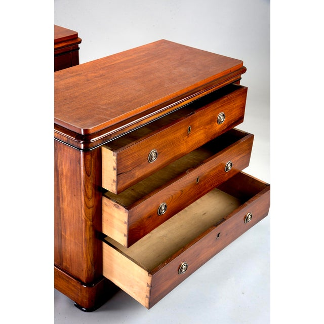English Traditional English Mahogany Chests With Black Detailing - a Pair For Sale - Image 3 of 11