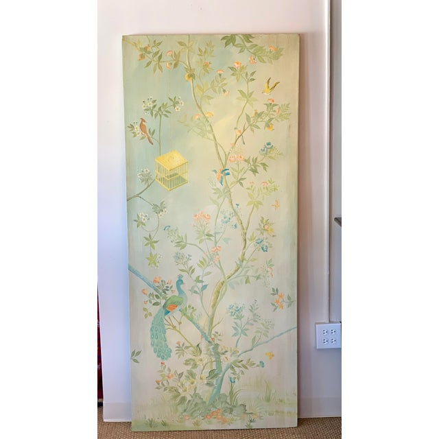 This beautiful tall canvas panel would be perfect to any room. A very unique piece of art, a focal point! The inviting...