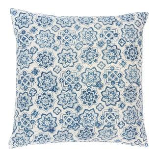 Indigo Blue Stars Decorative Pillow