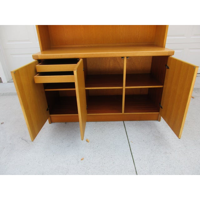 Teak Lighted Hutch or Cabinet by Christian Linneberg -Denmark For Sale - Image 5 of 11