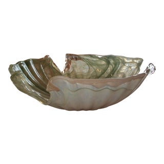 Mid Century Murano Style Blown Glass Centerpiece Bowl For Sale