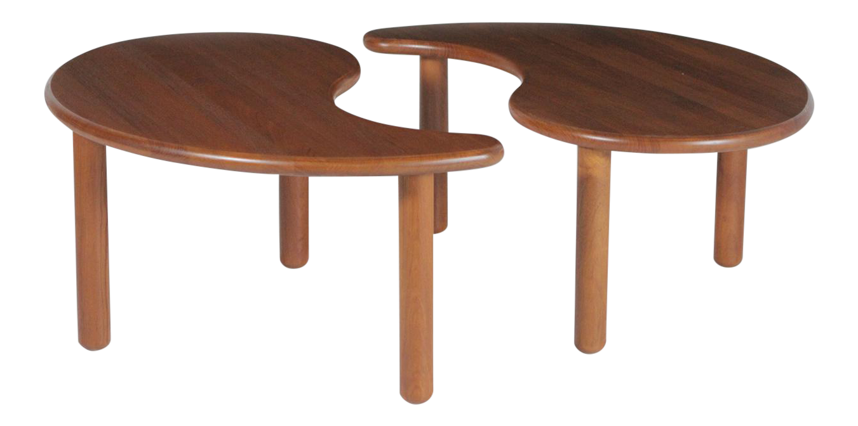 - 1950s Danish Teak Double Kidney Shaped Coffee Table Chairish