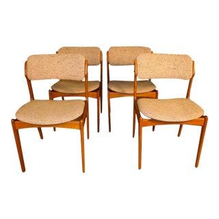 Mid Century Erik Buch for Oddense Maskinsnedkeri as Teak Dining Chairs Model 49 For Sale