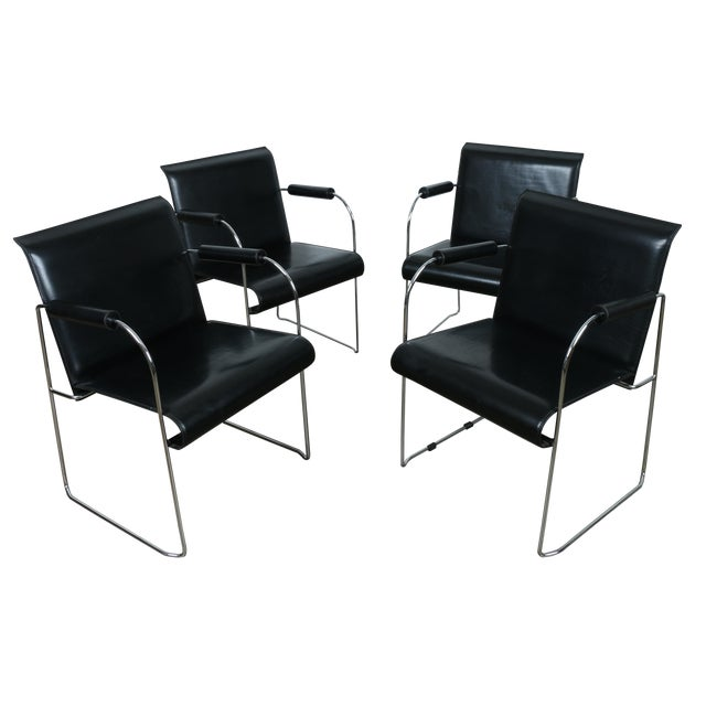 Arrben Italy Arm Chairs - Set of 4 - Image 1 of 11