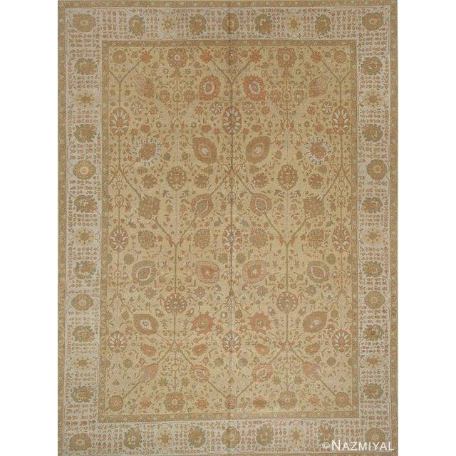 Room Size Modern Turkish Rug with Persian Tabriz Design, Country Of Origin: Turkey, Circa Date: Newly Made / Modern Rug –...