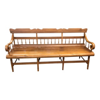 Early 19th Century Late Federal Pennsylvania Maple Parsons Bench For Sale