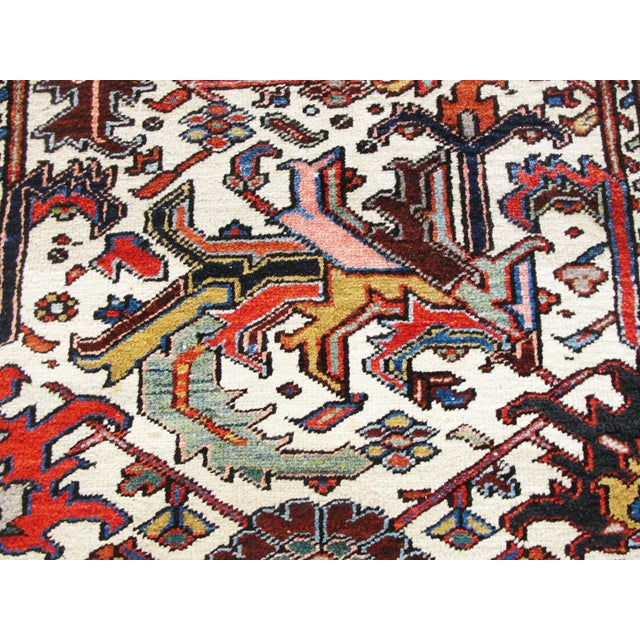Textile Antique Heriz Tree of Life Rug For Sale - Image 7 of 8