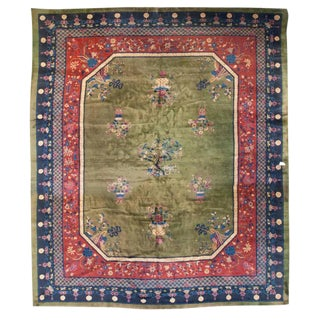 "Early 20th Century Chinese Art Deco Rug - 144"" x 168"" For Sale"