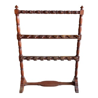 1920s Wooden English Boot Rack For Sale