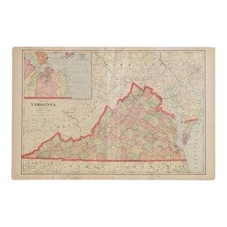 Cram's 1907 Map of Virginia