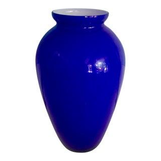 Cobalt Blue Murano Glass Vase