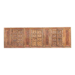 Very Long Antique Folk Carved Window For Sale