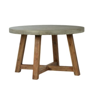 Outdoor Round Cement Dining Table For Sale