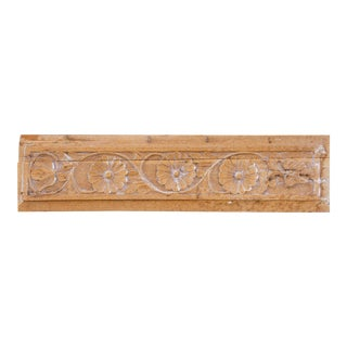 19th Century Gulbahar Whitewash Carved Panel For Sale