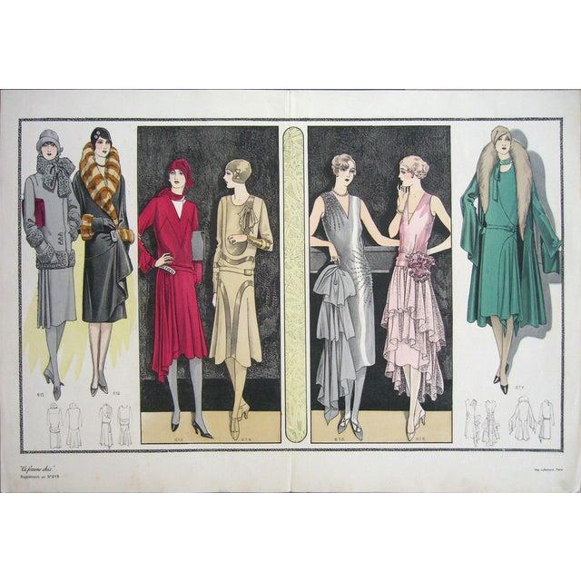 Art Deco 1920s Vintage Paris La Femme Chic #215 Print For Sale - Image 3 of 3