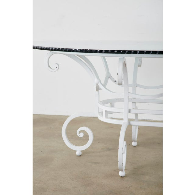 Victorian Oval Wrought Iron Painted Garden Dining Table For Sale - Image 3 of 13