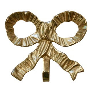 Brass Bow Wall Hook For Sale