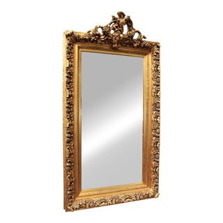 Early 20th Century French Gold Gilt Mirror