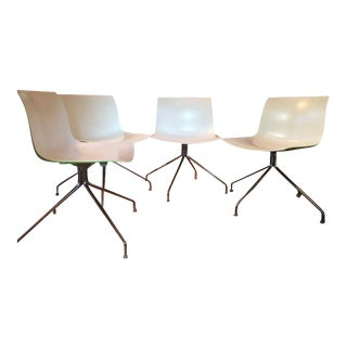 Arper Catifa 53 Trestle Swivel Chairs - Set of 4 For Sale