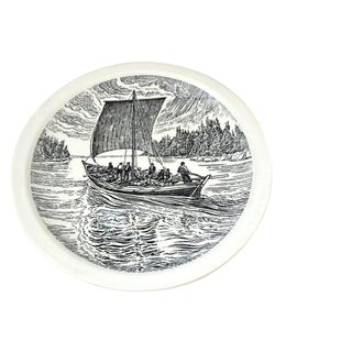 Wedgwood Historical Canadian Vessels Plate the York Boat Plate For Sale