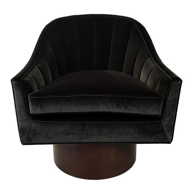 Probber Inc. Pair of Velvet Swivel Chairs by Harvey Probber For Sale - Image 4 of 9