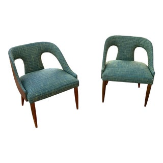 Mid-Century Modern S. J. Weiner Kodawood Bentwood Lounge Chairs- A Pair For Sale