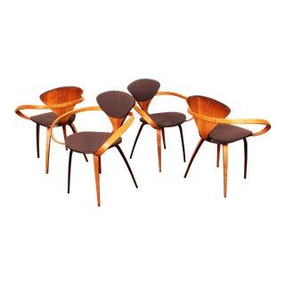 1950s Vintage Norman Cherner for Plycraft Pretzel Chairs- Set of 4 For Sale