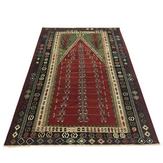 5 X 7 Vintage Obruk Turkish Kilim Prayer Mat For Sale