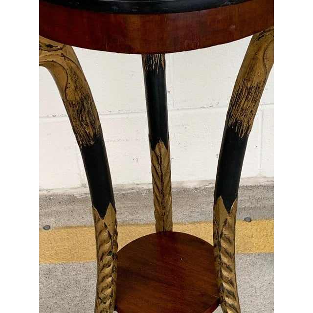 Wood Pair of 19th Century Baltic Giltwood Eagle Motif Pedestals For Sale - Image 7 of 13