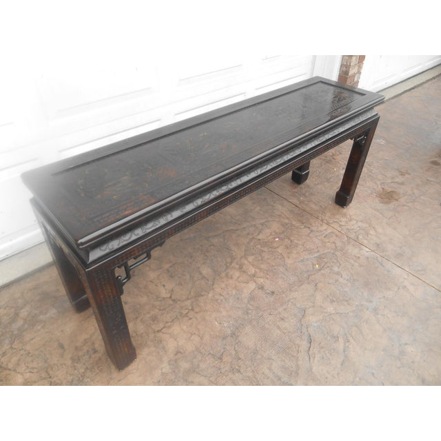 Asian John Widdicomb Chinoiserie Console Table For Sale - Image 3 of 13