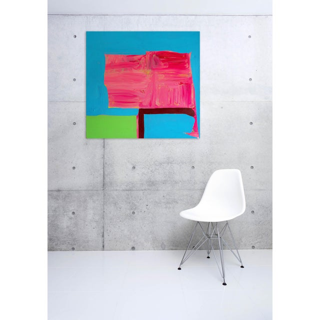 Acrylic on canvas Edition: Unique, Unframed. While making these paintings, Behnke was mainly concerned with formal...