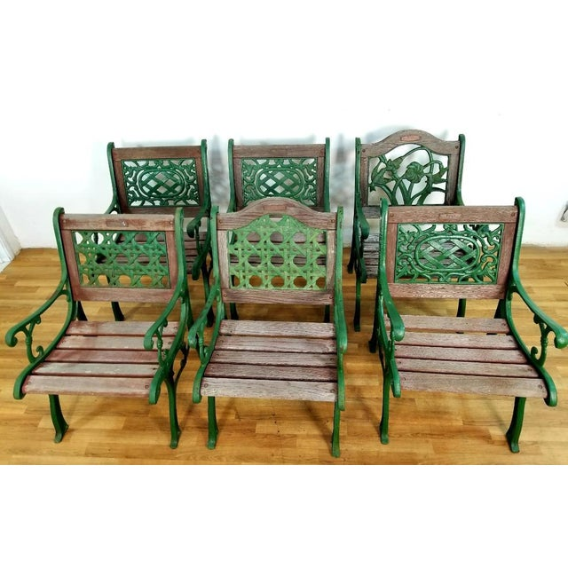 1960s Vintage Wrought Iron Berkeley Forge Foundry Park Chairs Set Of 6 For