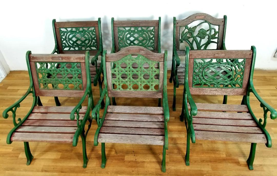 1960s 1960s Vintage Wrought Iron Berkeley Forge U0026 Foundry Park Chairs  Set  Of 6 For