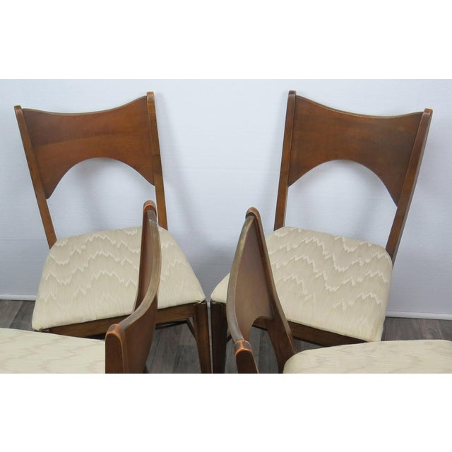 Brown Mid-Century Modern Walnut Bowtie Dining Chairs by Lenoir - Set of 4 For Sale - Image 8 of 13