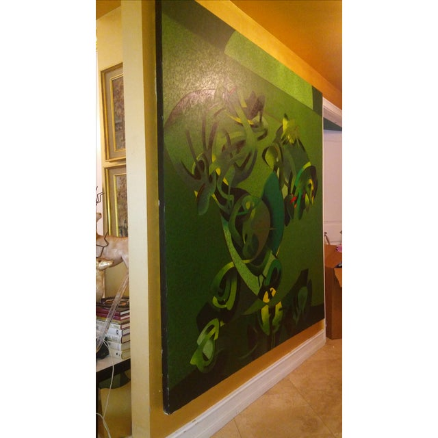 Milton Estrella-Gavidia Large Abstract Painting For Sale - Image 10 of 10