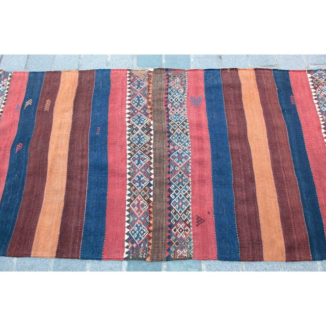 Fantastic Color Antique Turkish Malatya Kilim Rug - 6' 3'' x 3' 3'' - Image 5 of 10