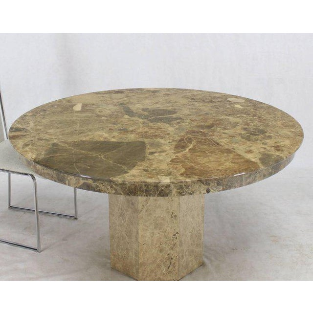 Mid-Century Modern Round Marble Dining Table For Sale - Image 9 of 9
