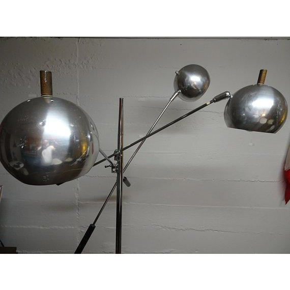 Robert Sonneman 1960s Mid-Century Modern Robert Sonneman Chrome Triennale Atomic Orbiter Floor Lamp For Sale - Image 4 of 9