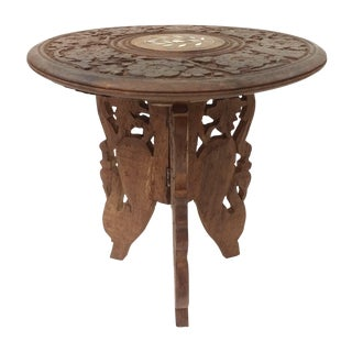 Hand-Carved Indian Sandalwood Display Table For Sale