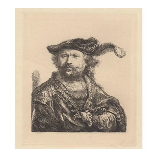 Rembrandt Self Portrait Heliogravure After Rembrandt 20th Century
